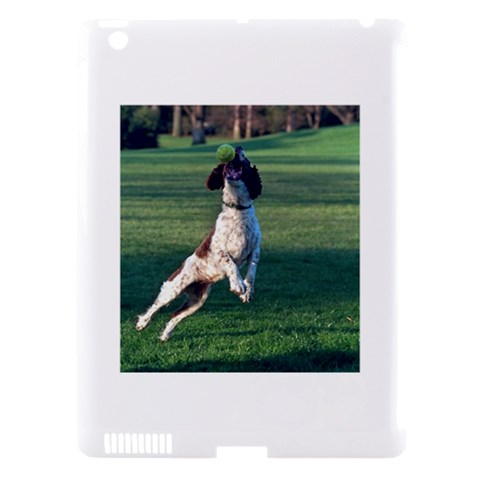 English Springer Catching Ball Apple iPad 3/4 Hardshell Case (Compatible with Smart Cover)