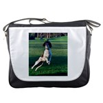 English Springer Catching Ball Messenger Bags Front