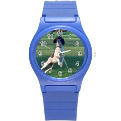 English Springer Catching Ball Round Plastic Sport Watch (s)