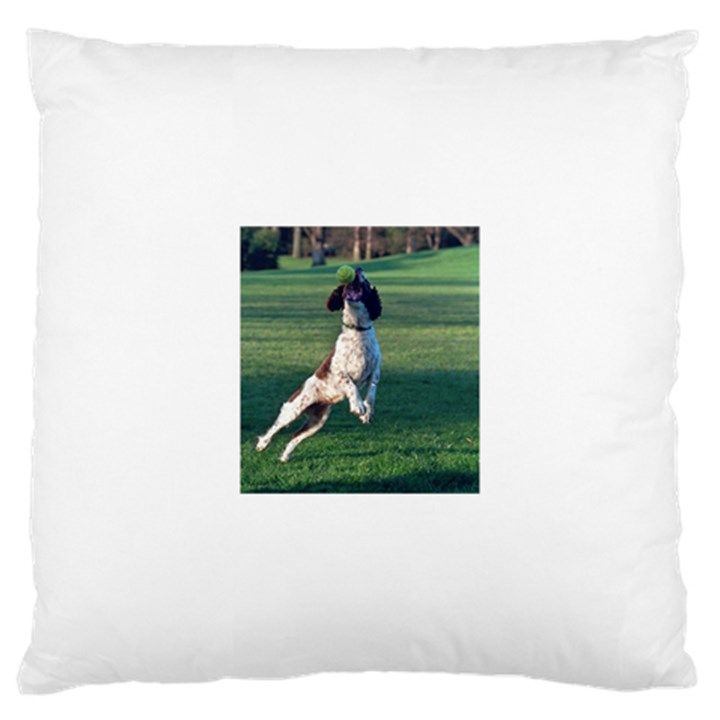 English Springer Catching Ball Large Cushion Case (One Side)