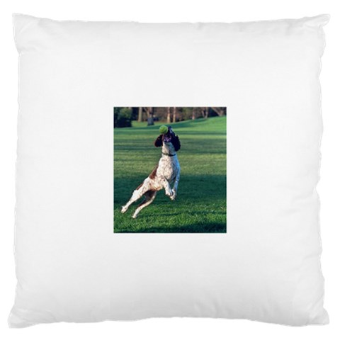 English Springer Catching Ball Large Cushion Case (Two Sides)
