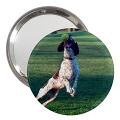 English Springer Catching Ball 3  Handbag Mirrors