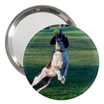 English Springer Catching Ball 3  Handbag Mirrors Front
