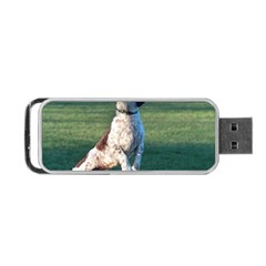 English Springer Catching Ball Portable Usb Flash (one Side)