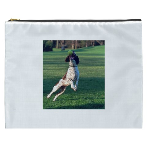 English Springer Catching Ball Cosmetic Bag (XXXL)