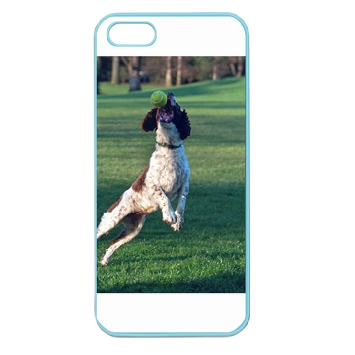 English Springer Catching Ball Apple Seamless iPhone 5 Case (Color)