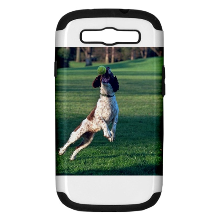 English Springer Catching Ball Samsung Galaxy S III Hardshell Case (PC+Silicone)