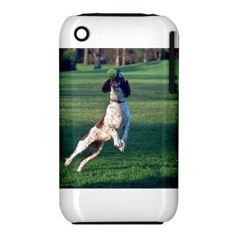 English Springer Catching Ball Apple iPhone 3G/3GS Hardshell Case (PC+Silicone)