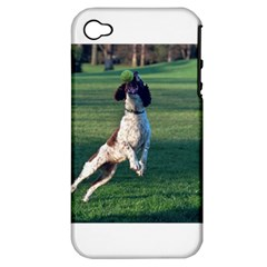 English Springer Catching Ball Apple iPhone 4/4S Hardshell Case (PC+Silicone)
