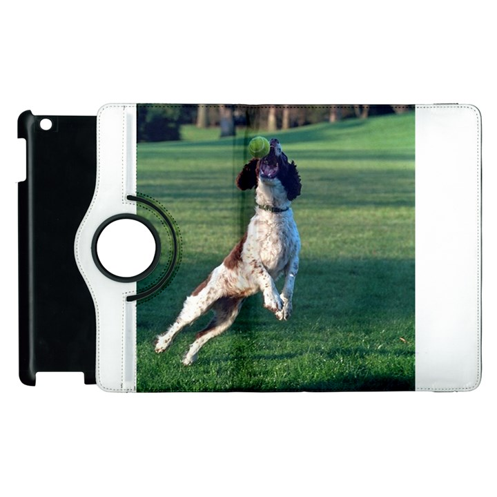 English Springer Catching Ball Apple iPad 2 Flip 360 Case