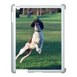 English Springer Catching Ball Apple iPad 3/4 Case (White) Front