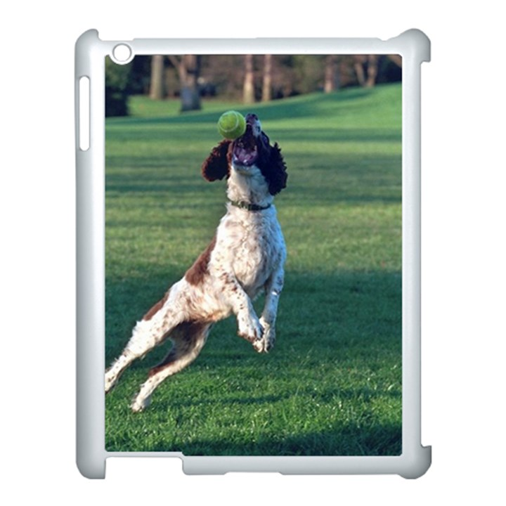 English Springer Catching Ball Apple iPad 3/4 Case (White)