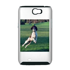 English Springer Catching Ball Samsung Galaxy Note 2 Hardshell Case (PC+Silicone)