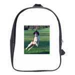 English Springer Catching Ball School Bags (XL)  Front