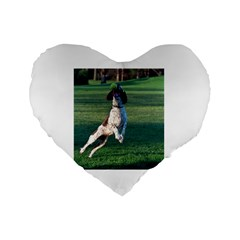 English Springer Catching Ball Standard 16  Premium Heart Shape Cushions