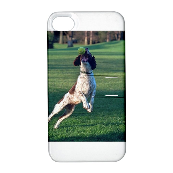 English Springer Catching Ball Apple iPhone 4/4S Hardshell Case with Stand