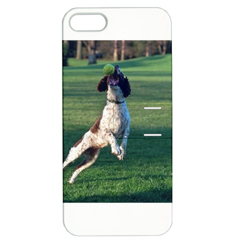 English Springer Catching Ball Apple iPhone 5 Hardshell Case with Stand