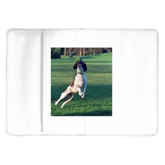 English Springer Catching Ball Samsung Galaxy Tab 10 1  P7500 Flip Case