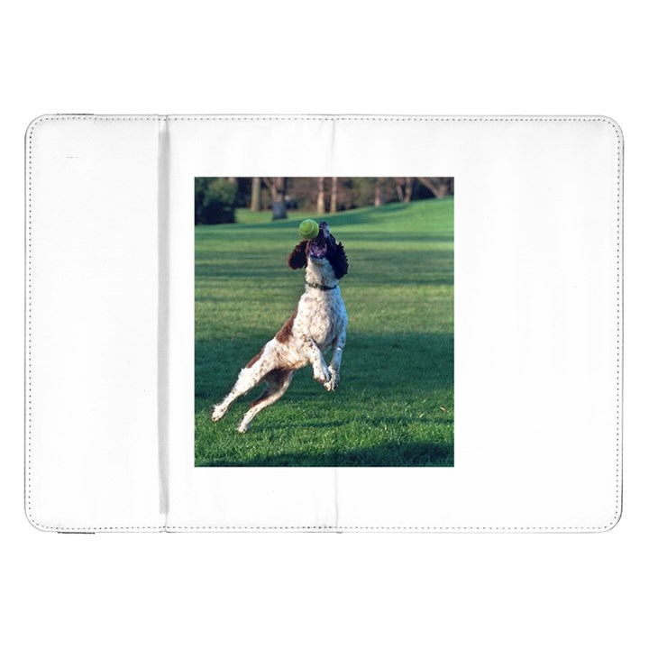 English Springer Catching Ball Samsung Galaxy Tab 8.9  P7300 Flip Case