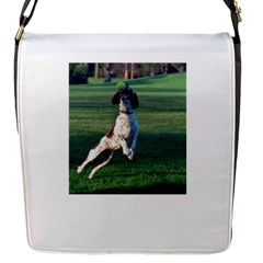 English Springer Catching Ball Flap Messenger Bag (S)