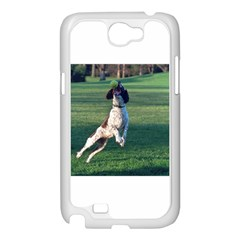 English Springer Catching Ball Samsung Galaxy Note 2 Case (White)