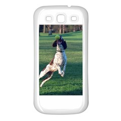 English Springer Catching Ball Samsung Galaxy S3 Back Case (White)