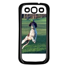 English Springer Catching Ball Samsung Galaxy S3 Back Case (Black)