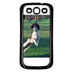 English Springer Catching Ball Samsung Galaxy S3 Back Case (Black) Front