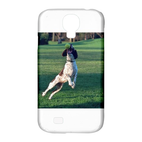English Springer Catching Ball Samsung Galaxy S4 Classic Hardshell Case (PC+Silicone)