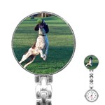 English Springer Catching Ball Stainless Steel Nurses Watch Front