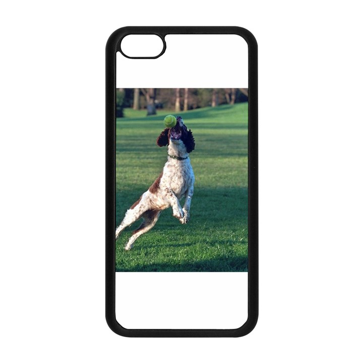 English Springer Catching Ball Apple iPhone 5C Seamless Case (Black)