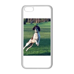 English Springer Catching Ball Apple iPhone 5C Seamless Case (White)