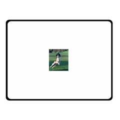 English Springer Catching Ball Double Sided Fleece Blanket (Small)
