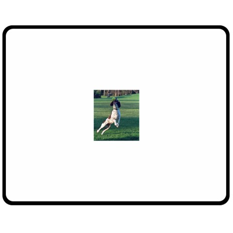 English Springer Catching Ball Double Sided Fleece Blanket (Medium)