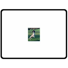 English Springer Catching Ball Double Sided Fleece Blanket (Large)
