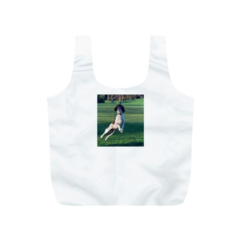 English Springer Catching Ball Full Print Recycle Bags (S)