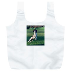 English Springer Catching Ball Full Print Recycle Bags (L)