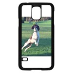 English Springer Catching Ball Samsung Galaxy S5 Case (Black) Front