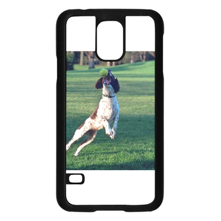 English Springer Catching Ball Samsung Galaxy S5 Case (Black)
