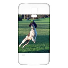 English Springer Catching Ball Samsung Galaxy S5 Back Case (White)