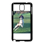 English Springer Catching Ball Samsung Galaxy Note 3 Neo Hardshell Case (Black) Front