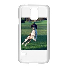 English Springer Catching Ball Samsung Galaxy S5 Case (White)
