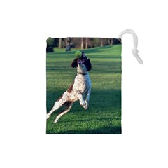 English Springer Catching Ball Drawstring Pouches (Small)