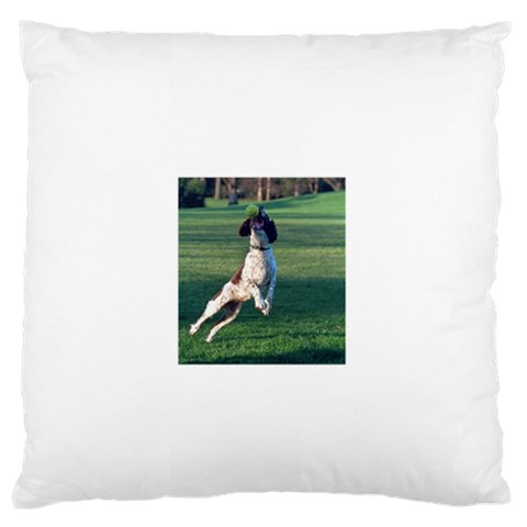 English Springer Catching Ball Standard Flano Cushion Case (One Side)