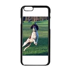 English Springer Catching Ball Apple iPhone 6/6S Black Enamel Case