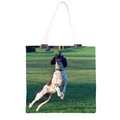English Springer Catching Ball Grocery Light Tote Bag