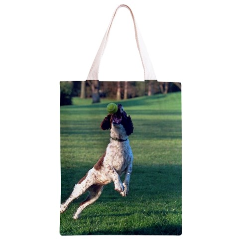 English Springer Catching Ball Classic Light Tote Bag