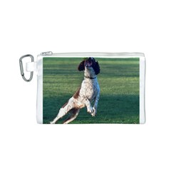 English Springer Catching Ball Canvas Cosmetic Bag (S)