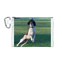 English Springer Catching Ball Canvas Cosmetic Bag (M)
