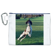 English Springer Catching Ball Canvas Cosmetic Bag (XL)